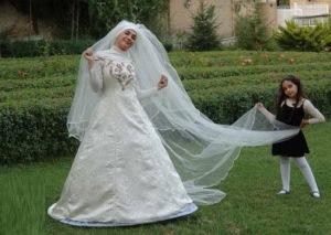 عکس دختر ایرانی در لباس عروسی